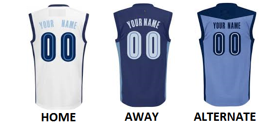 MEMPHIS PRO BASKETBALL Number Kit
