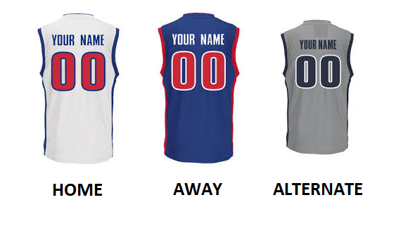 DETROIT PRO BASKETBALL Number Kit