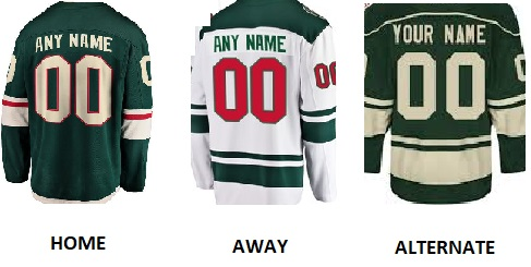 MINNESOTA Pro Hockey Number Kit