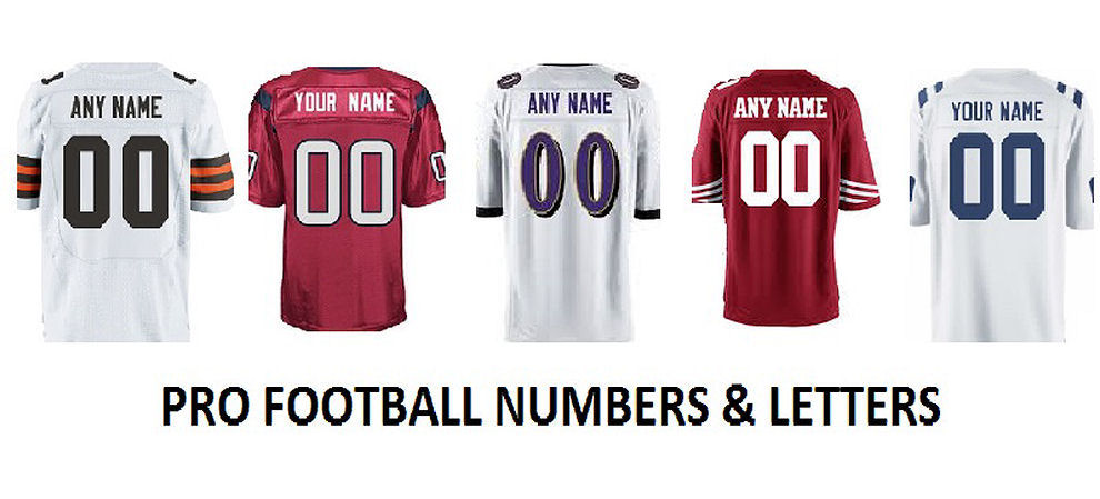 Pro Football Numbers and Letters