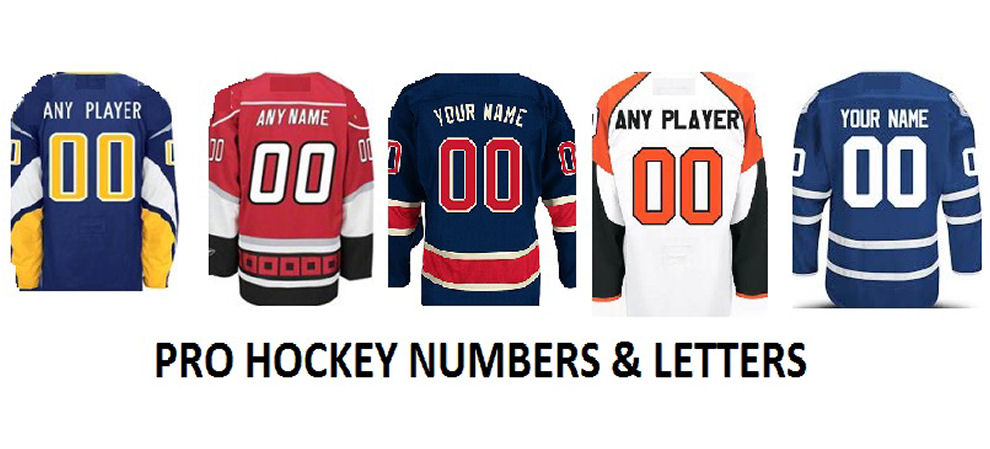 Pro Hockey Numbers and Letters