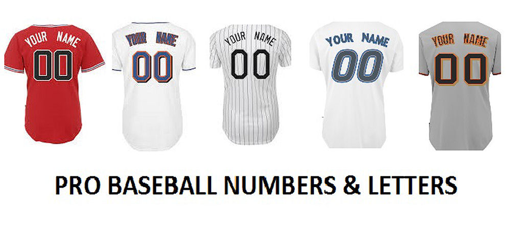 Pro Baseball Numbers and Letters