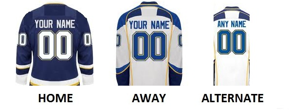 ST LOUIS Pro Hockey Number Kit