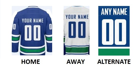 VANCOUVER Pro Hockey Number Kit