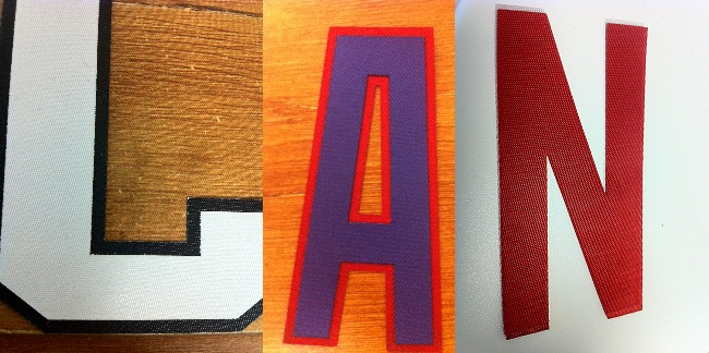 Iron/Sew On Twill LETTERS(1 Color)