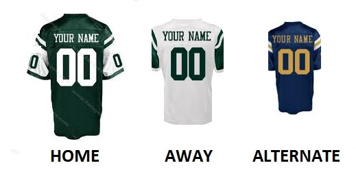 NEW YORK J Pro Football Number Kit