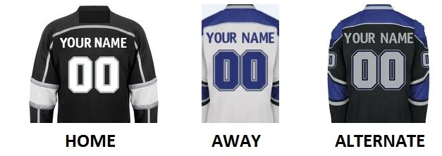 LOS ANGELES Pro Hockey Number Kit