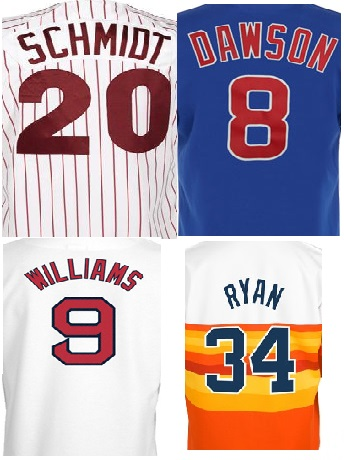 Retro Baseball Jersey Number/Letter kits