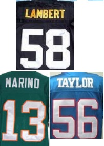 Retro Football Jersey Number/Letter kits
