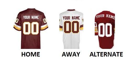 WASHINGTON Pro Football Number Kit